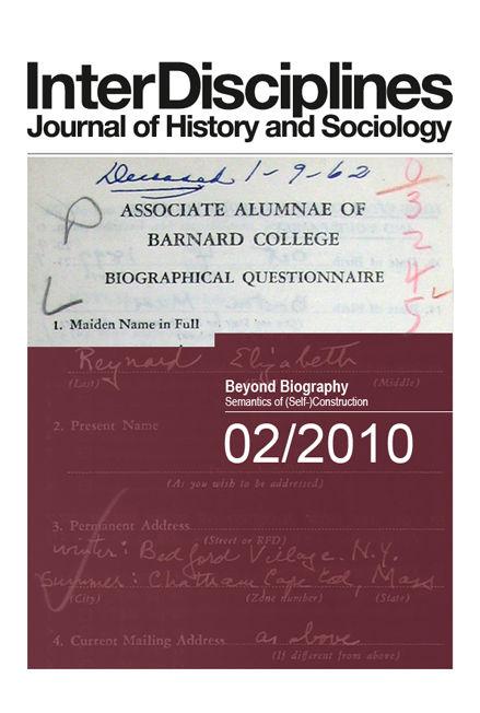 View Vol. 1 No. 2 (2010): Beyond Biography. Semantics of (Self-) Construction